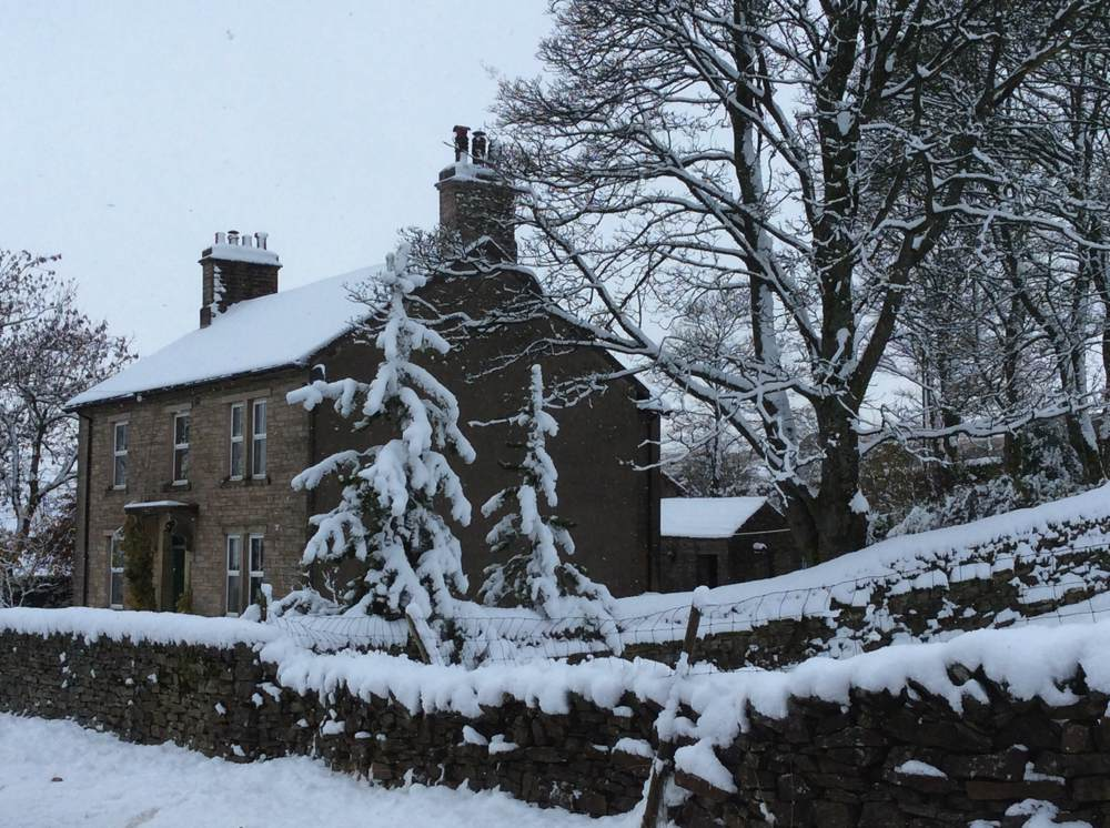 The Garsdale Retreat in the snow.
